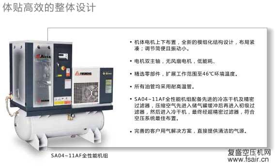 体贴高效的整体设计的空压机